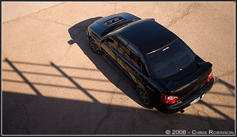 WRX STi-clone from above