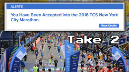 Accepted: TCS NYC Marathon - 2016