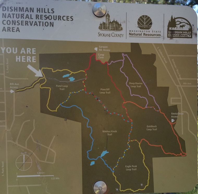 Dishman Hills Conservancy Area - Trail System Map - Chris-R.net