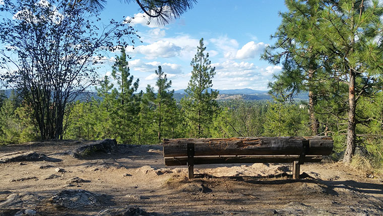 Dishman Hills Conservancy Area - Bench with a View - Chris-R.net