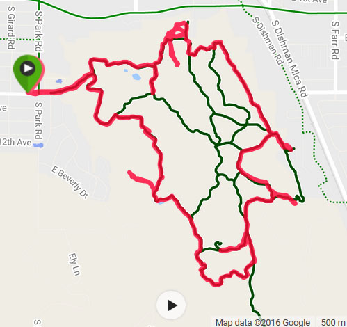 Dishman Hills Conservancy Area - Trail Running Route - Chris-R.net