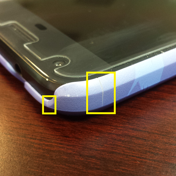 Cracked Google Pixel Live Case - One Corner, Two Cracks - Photos by Chris-R.net