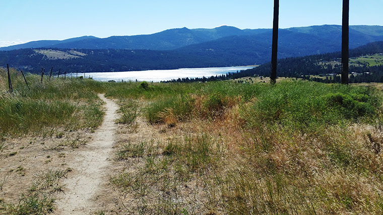 Saltese Uplands Trail System - View of Liberty Lake - Chris-R.net