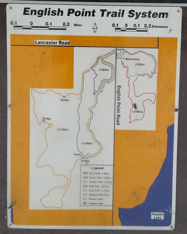 English Point Trail System - Trail Map - Chris-R.net