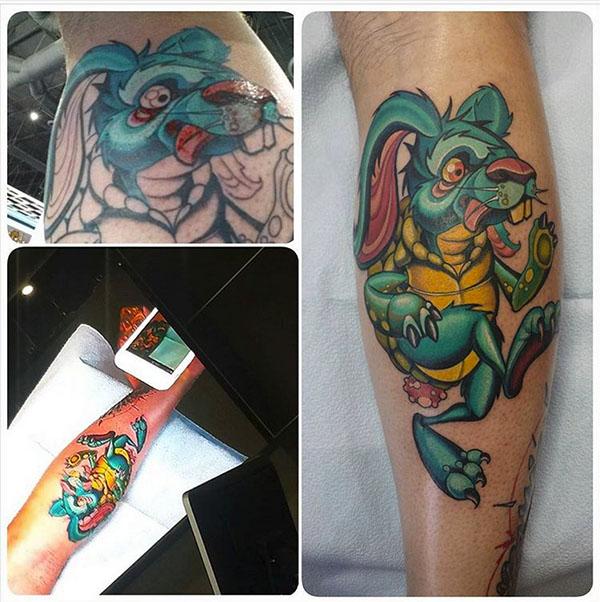 My Jason Stephan Tattoos Tortoise/Hare creation - Chris-R.net